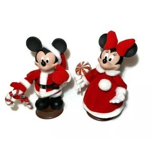 Disney Santa Mickey Minnie Mouse Christmas Motion